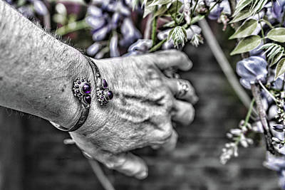Photograph - Reaching For Purple by Sharon Popek