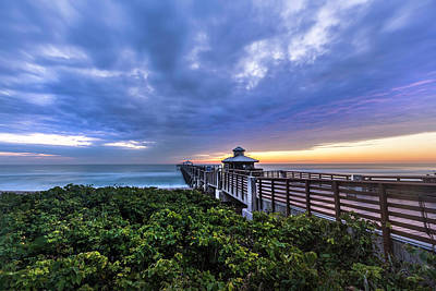 Photograph - Reaching Out To Sea At The Juno Pier by Debra and Dave Vanderlaan