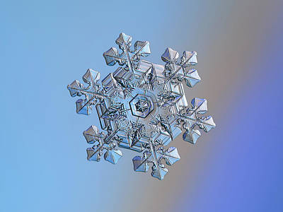 Photograph - Real Snowflake - 05-feb-2018 - 14 by Alexey Kljatov