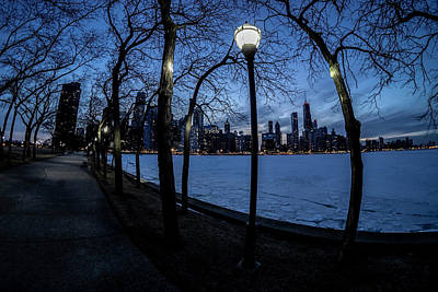 Photograph - really wide view of Chicago's lakefront by Sven Brogren