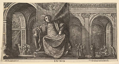 Drawing - Realm Of Juno by Wenceslaus Hollar