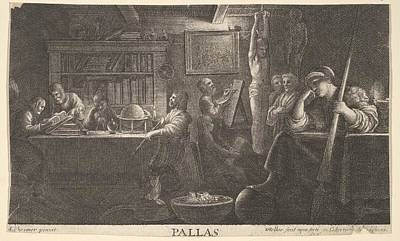 Drawing - Realm Of Pallas by Wenceslaus Hollar