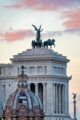 Photograph - Rear View Of The Altare Della Patria by Fabrizio Troiani