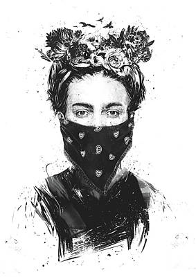 Drawing - Rebel Girl by Balazs Solti