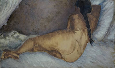 Painting - Reclining Nude, after Vincent Van Gogh by Linda Falorio