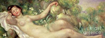 Painting - Reclining Nude  La Source Detail by Pierre Auguste Renoir