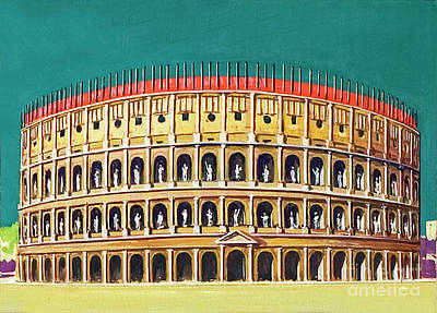 Painting - Reconstruction Of The Colosseum  by Severino Baraldi