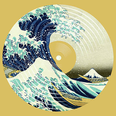 Painting - Record Album Vinyl Lp Asian Japanese Wave by Tony Rubino