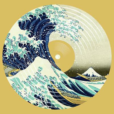 Painting - Record Album Vinyl Lp Asian Japanese Wave by Tony Rubino