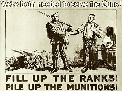 Drawing - Recruitment Vintage Poster For The British Army In The First World War, 1915 by English School