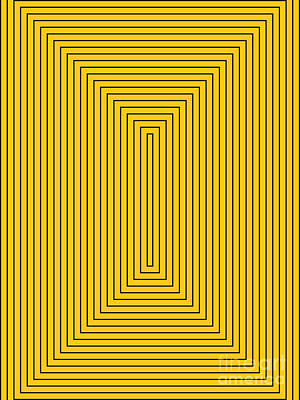 Drawing - Rectangles Yellow Black by Aapshop