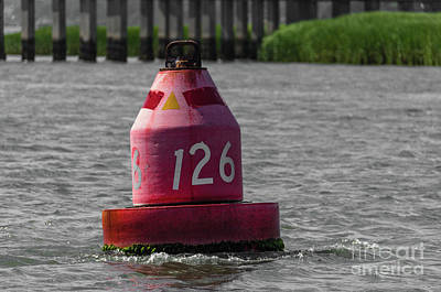 Photograph - Red 126 Navigation Buoy by Dale Powell
