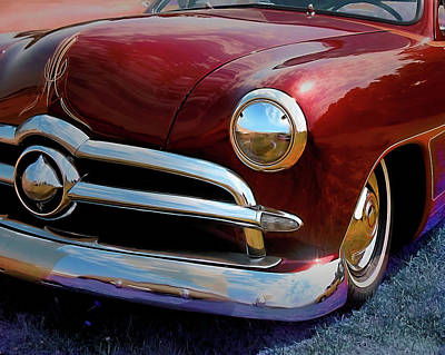 Photograph - Red 1950 Ford Traditional Custom by David King
