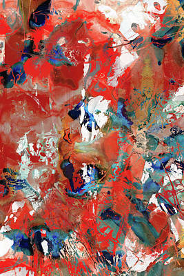 Painting - Red Abstract Art - No Boundaries - Sharon Cummings by Sharon Cummings