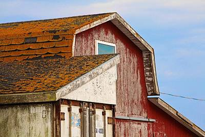 Art Print featuring the photograph Red Acadian Fishing Shack At by Tatiana Travelways