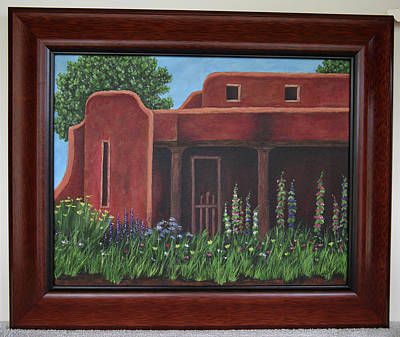 Painting - Red Adobe by Gloria Johnson