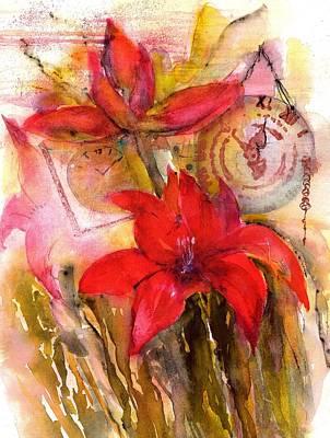 Red Amaryllis Still Life Original
