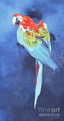 Painting - Red And Blue Macaw by Odile Kidd