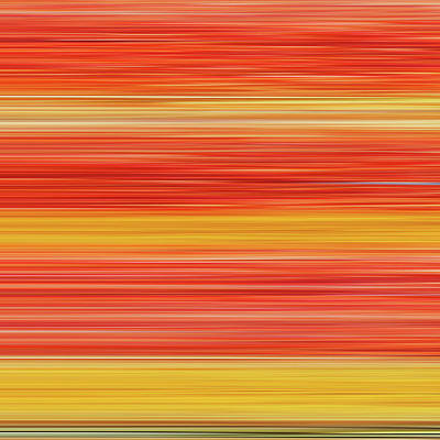 Digital Art - Red And Yellow Linear Texture by Cosmina Lefanto