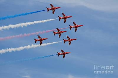 Personalized Name License Plates - Red Arrows over Hastings by David Fowler