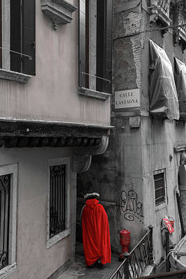 Photograph - Red At The Venice Carnival by Georgia Fowler