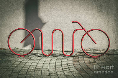 Photograph - Red Bike Rack by Colleen Kammerer