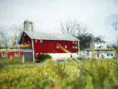 Photograph - Red Barn 4 #painting by Andrea Anderegg