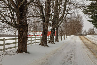 Photograph - Red Barn by Bob Doucette