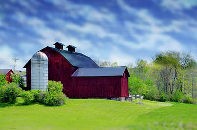 Photograph - Red Barn by Crystal Wightman