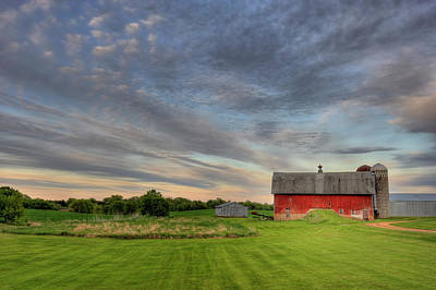Photograph - Red Barn by Hauged