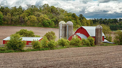 Photograph - Red Barns In Wisconsin by Susan Rissi Tregoning