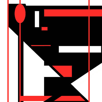 Digital Art - Red Black 013 by Elastic Pixels
