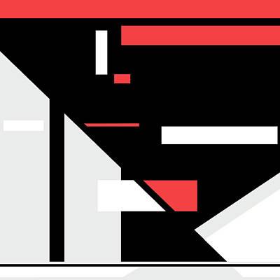 Digital Art - Red Black 014 by Elastic Pixels