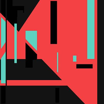 Digital Art - Red Black 015 by Elastic Pixels