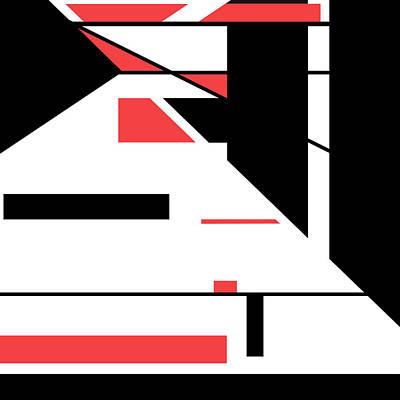 Digital Art - Red Black 016 by Elastic Pixels