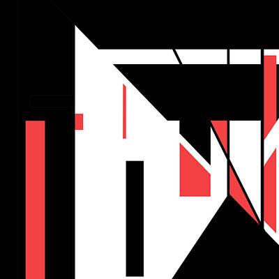 Digital Art - Red Black 018 by Elastic Pixels