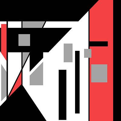 Digital Art - Red Black 020 by Elastic Pixels