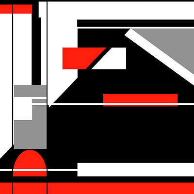 Digital Art - Red Black 022 by Elastic Pixels