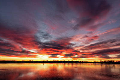 Photograph - Red, Blue And Orange Sunrise In Colorado by Tony Hake