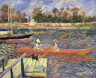 Painting - Red Boat, Argenteuil, 1888 by Pierre Auguste Renoir