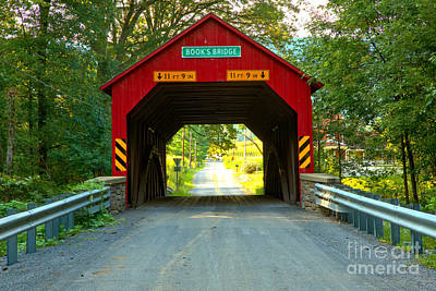 Photograph - Red Books Covered Bridge by Adam Jewell