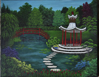 Painting - Oriental Garden by Gloria Johnson