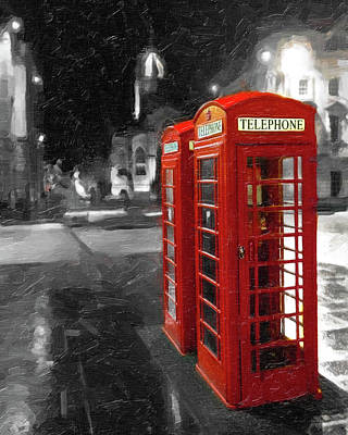 Photograph - Red British Phone Box On The Streets Of Edinburgh by Mark Tisdale