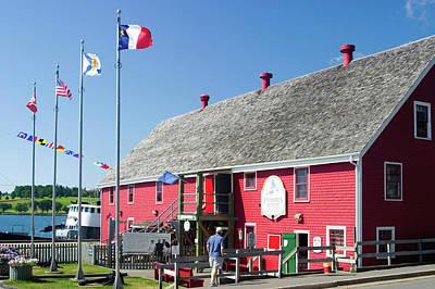 Nova Scotia Wall Art - Photograph - Red Building In Lunenburg Nova Scotia by David Smith