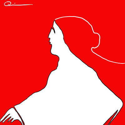 Digital Art - Red Bun by Jeff Quiros