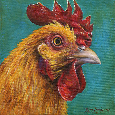 Painting - Red Chicken by Kim Lockman