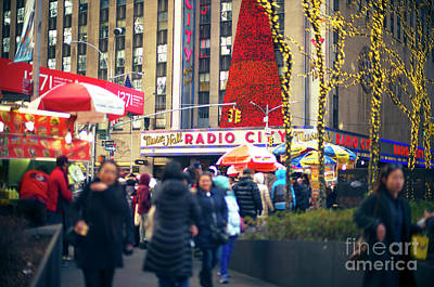 Photograph - Red Christmas At Radio City Music Hall New York City by John Rizzuto