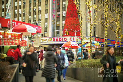 Photograph - Red Christmas Tree At Radio City Music Hall New York City by John Rizzuto