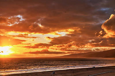 Photograph - Red Clouds At Sunset by Gene Parks