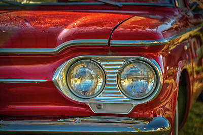 Photograph - Red Corvair by Guy Whiteley